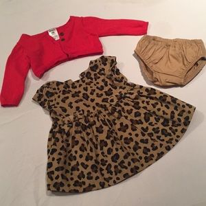 Baby 👶🏻 Carter's Cheetah Dress Set